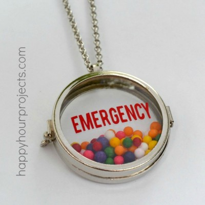 Emergency Sprinkles! Glass Locket Necklace