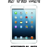 Enter to win an iPad Mini at www.happyhourprojects.com