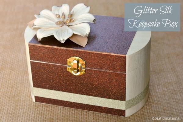 Mod Podge Glitter Keepsake Box at www.happyhourprojects.com