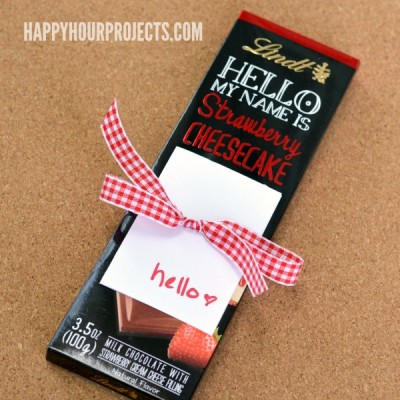 Easy Nice-To-Meet-You Gift Idea with Lindt HELLO Chocolate Bars