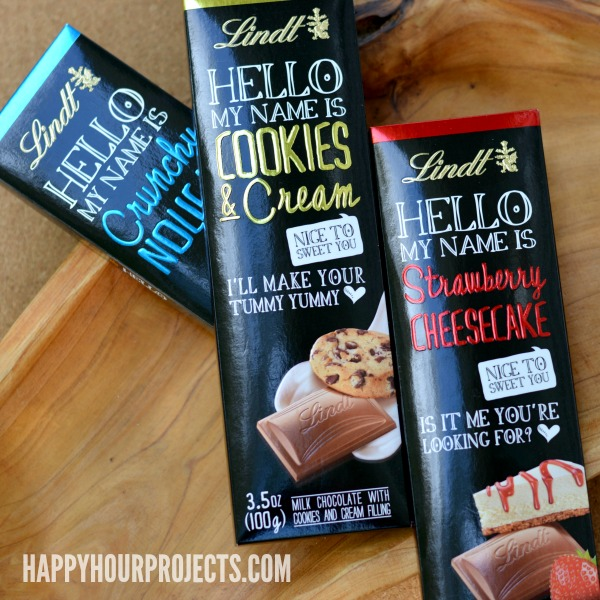 Simple Nice-To-Meet-You Gift Idea with Lindt's New HELLO Bars at www.happyhourprojects.com