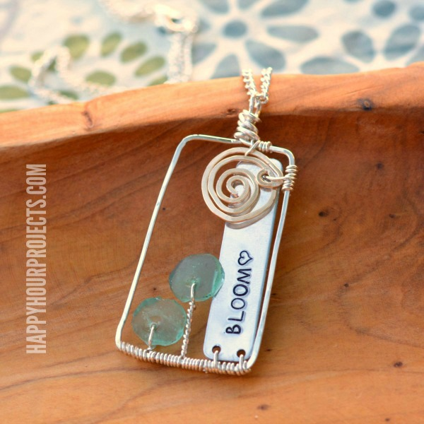 Bloom Wire Wrapped Floral Scene Pendant at www.happyhourprojects.com