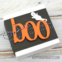 Easy Boo Boxes for Halloween with Free Silhouette Cut File at www.happyhourprojects.com