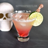 Day of the Dead Bloodshot Margarita at www.happyhourprojects.com #DayoftheDead