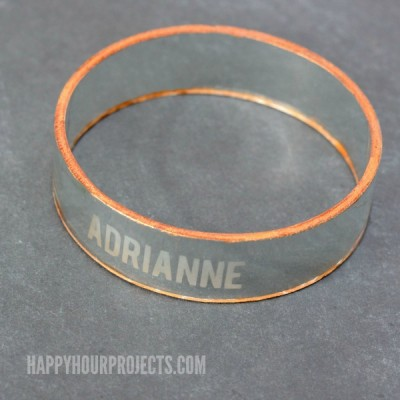 Etched Glass Bangles from Recycled Wine Bottles