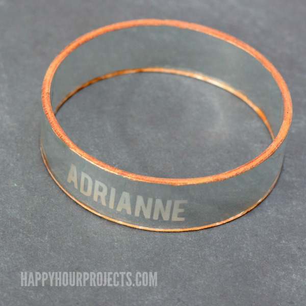 Etched Glass Bangles from Recycled Wine Bottles at www.happyhourprojects.com