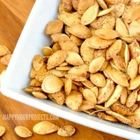 Herbed Pumpkin Seeds at www.happyhourprojects.com