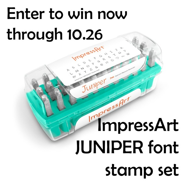 ImpressArt Metal Stamp Set giveaway