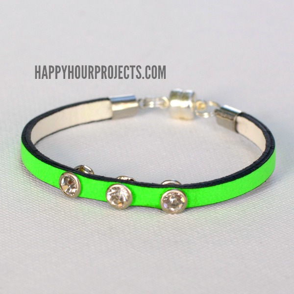 Kids Magnetic Leather Bracelet at www.happyhourprojects.com