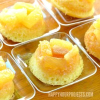 Miniature Pineapple Upside Down Cake at www.happyhourprojects.com