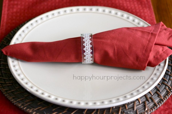 How To Make Recycled Glass Napkin Rings at www.happyhourprojects.com