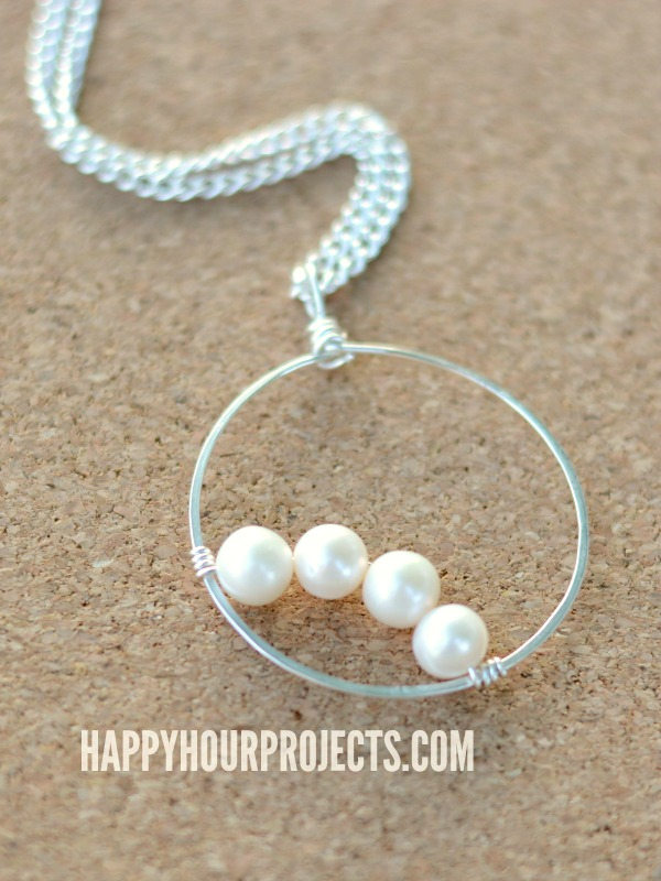 Simple Pearls: Wire Wrapped Frame Pendant - Happy Hour Projects