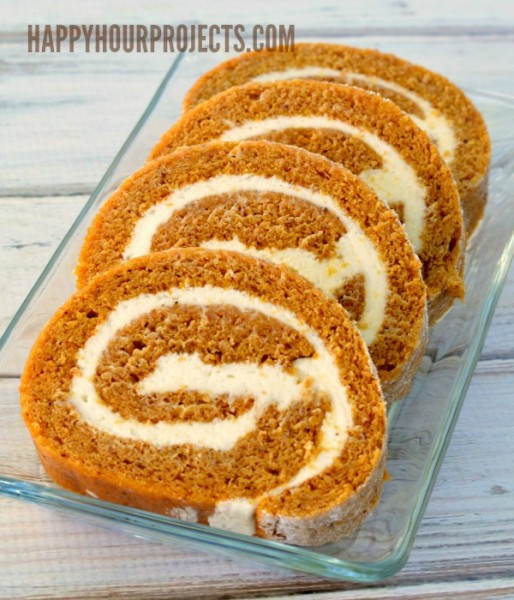 Spiced Pumpkin Roll at www.happyhourprojects.com