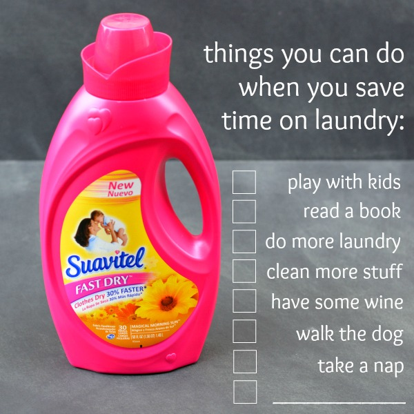 Suavitel Fast Dry Fabric Softener: Making More Fun Time at www.happyhourprojects.com