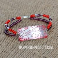 Embossed Beaded Bracelet