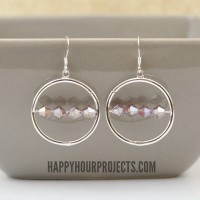 One-Minute Interchangeable Beaded Frame Earrings