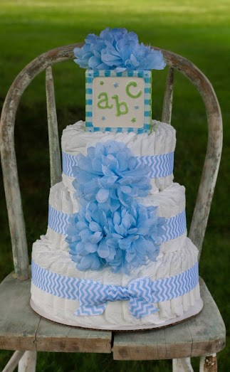 Bella Belli Baby Diaper Cake Giveaway at www.happyhourprojects.com