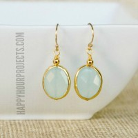 Gemstone Earrings Tutorial with Chalcedony and Gold Vermeil