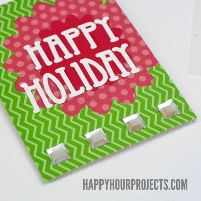 Happy Holiday Simple Cutout Card at www.happyhourprojects.com