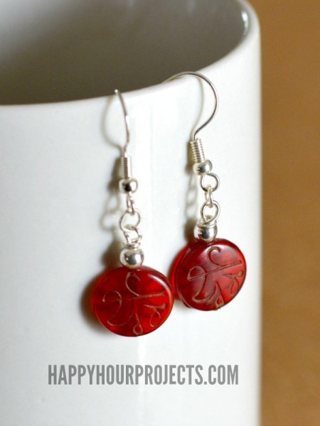 Easy Beaded Dangle Earrings With Prayer Beads At Hyhourprojects