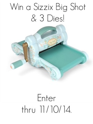 Sizzix Big Shot Bundle Giveaway at www.happyhourprojects.com
