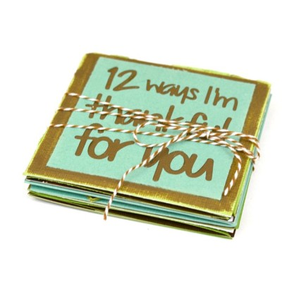 """12 Ways I'm Thankful"" Easy Accordion-Fold Card"