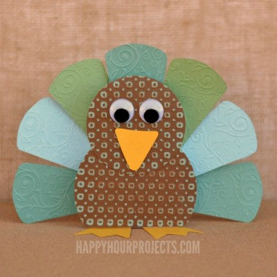 Thankful Paper Turkey Craft & Activity for Thanksgiving at www.happyhourprojects.com