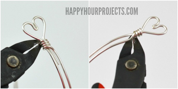 Diy Heart Clasp Wire Wrapped Bangle Bracelet Happy Hour Projects