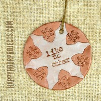 Clay Snowflake Ornament at www.happyhourprojects.com