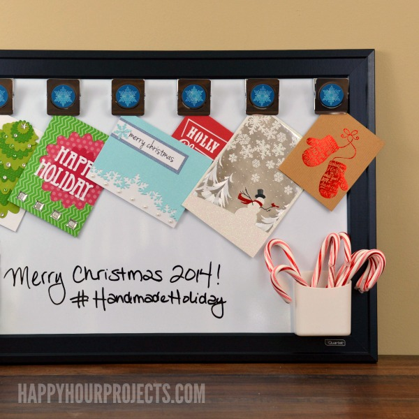 2-Minute Holiday Card Display Hack at www.happyhourprojects.com