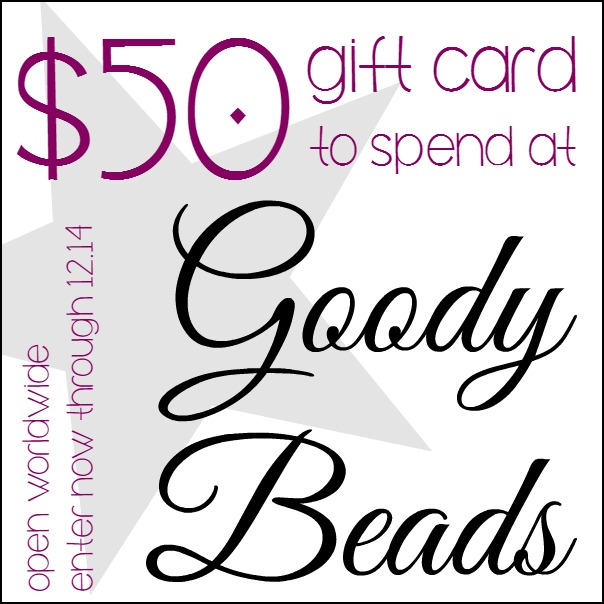 $50 Goody Beads Gift Card Giveaway at www.happyhourprojects.com