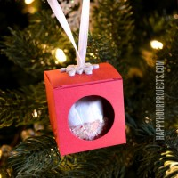 Last Minute Gifts: Hanging Treat Box Ornaments