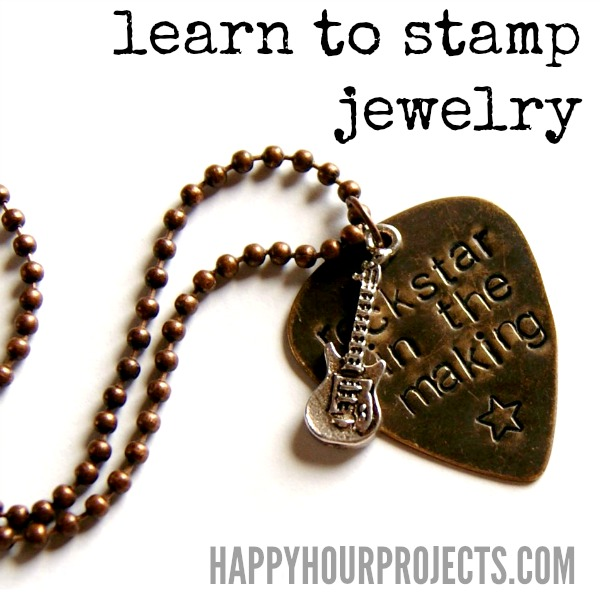 jewelry stamping happy hour projects