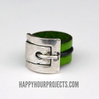 Leather Buckle Ring