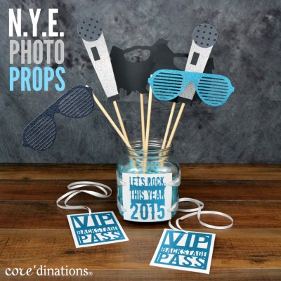 Rock the New Year with Rock Star Photo Props at www.happyhourprojects.com