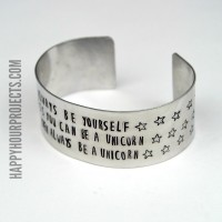 Always Be A Unicorn Stamped Cuff Bracelet