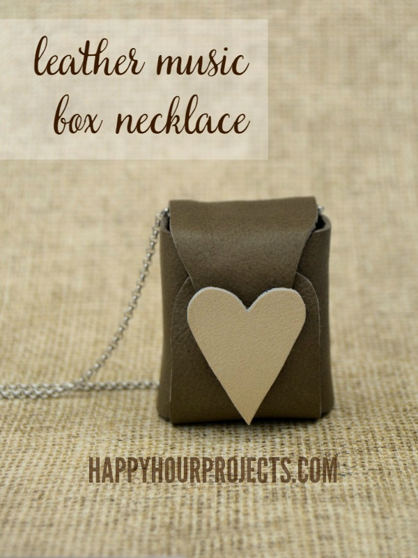 Leather Music Box Necklace at www.happyhourprojects.com