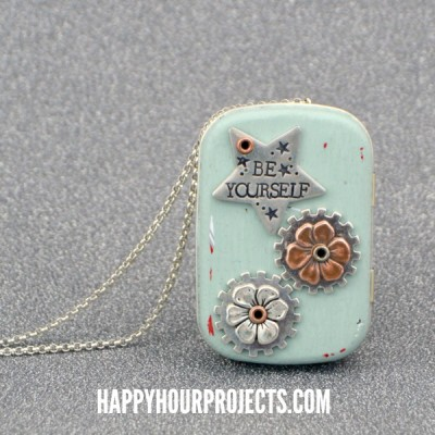 Recycled Tin Music Box Locket