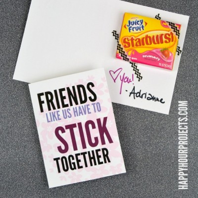Great Friends Stick Together with Juicy Fruit Starburst Gum (Free Printable)