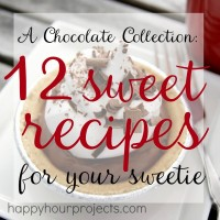 The Way to Her Heart Is Chocolate: 12 Great Recipes at www.happyhourprojects.com