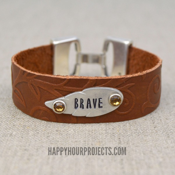 Embossed And Stamped Leather Bracelet At Www Hyhourprojects
