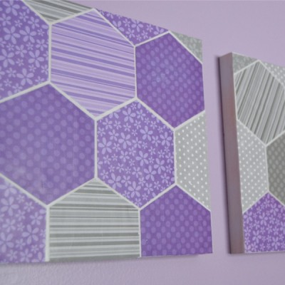 Hexagon Wall Art Square
