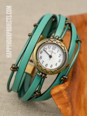 http://happyhourprojects.com/wp-content/uploads/2015/02/Layered-Leather-Beaded-Watch-1-300x400.jpg