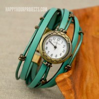 DIY Layered Leather Beaded Watch