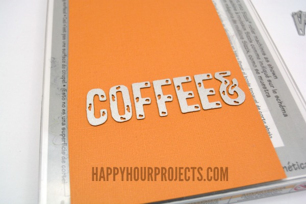 Coffee Lovers Handmade Valentine Card at www.happyhourprojects.com