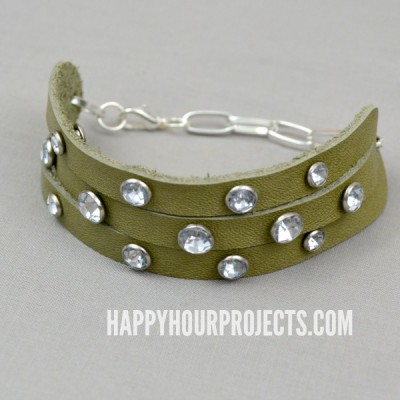 DIY Riveted Leather Bracelet