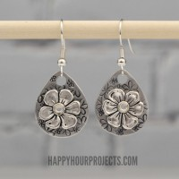 Stamped and Riveted Floral Earrings: Beginner's Video Tutorial