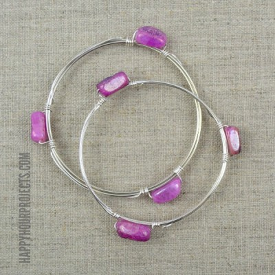DIY Wire Wrapped Bead Bangle | Video Tutorial