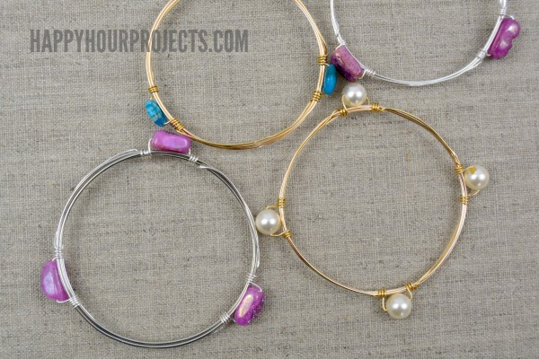 Wire Wrapped Sungles | Diy Wire Wrapped Bead Bangle Video Tutorial Happy Hour Projects