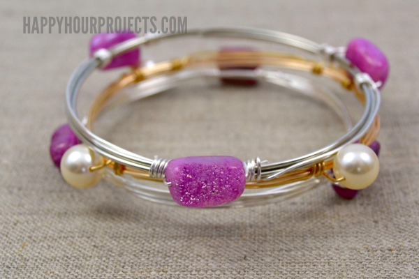 DIY Wire Wrapped Bead Bangle | Video Tutorial - Happy Hour Projects